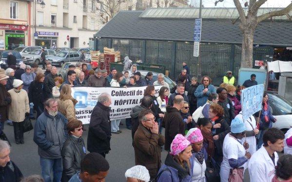 attac 78 nord manifestation pour le centre hospitalier des courses 224 maisons laffitte