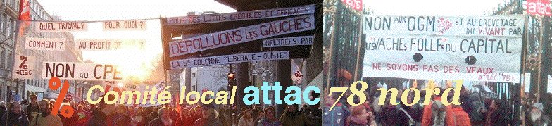 Comité local ATTAC 78 Nord
